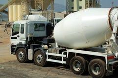 The concrete mixer truck Stock Image