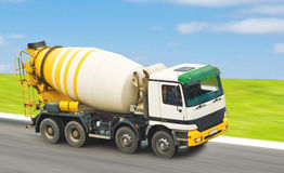 Concrete mixer truck. For construction building Royalty Free Stock Images