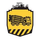 Concrete Mixer Truck. Sign or symbol, vector illustration royalty free illustration