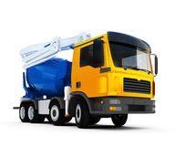 Concrete mixer truck. 3d illustration of big concrete mixer truck Royalty Free Stock Photography