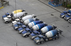 Concrete mixer truck factory Stock Photos