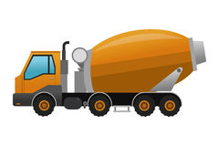 concrete mixer truck icon Stock Photography