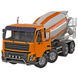 Concrete Mixer Truck isolated on white 3D Illustration stock illustration