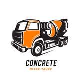 Concrete mixer truck logo, emblem abstract . Concrete mixer truck logo, emblem abstract.  on white background Stock Photo