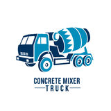 Concrete mixer truck logo, emblem abstract . Concrete mixer truck logo, emblem abstract.  on white background Stock Image