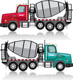 Concrete mixer Truck vector Stock Image