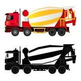 Concrete mixer truck, vector illustration Royalty Free Stock Photo
