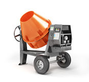 Concrete mixer on a white background. Royalty Free Stock Images