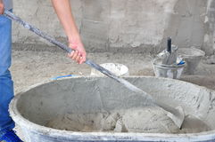 Concrete mixing Royalty Free Stock Photos
