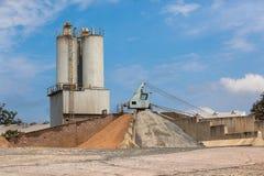 Concrete Mixing Depot Crane  Stock Photos