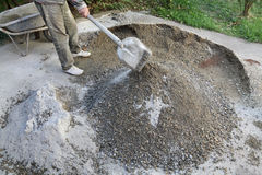 Concrete mixing Royalty Free Stock Image