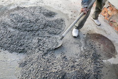 Concrete mixing Royalty Free Stock Photography