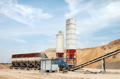 Concrete mixing plant Stock Photo
