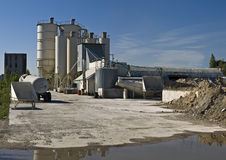 Concrete mixing plant Stock Photography