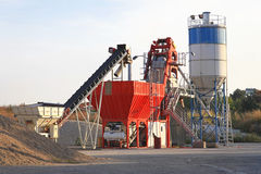 Concrete mixing plant Royalty Free Stock Images