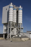 Concrete mixing plant stack. For cement and sand Stock Photography