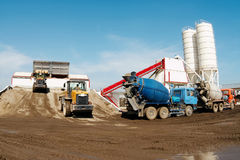Concrete-mixing plant. Royalty Free Stock Photography