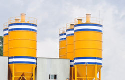 Concrete mixing plants Royalty Free Stock Photography