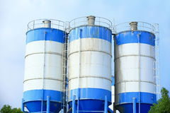 Concrete mixing plants Stock Image