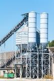 Concrete mixing silo Stock Image