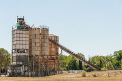 Concrete mixing silo Royalty Free Stock Images