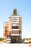 Concrete mixing silo Stock Photo