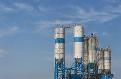 Concrete mixing tower Stock Photo