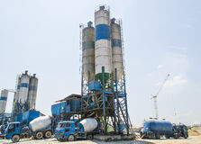 Concrete mixing tower Stock Photography