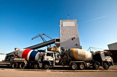 Concrete mixing truck Royalty Free Stock Photo