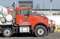 Concrete mixing trucks Stock Photo