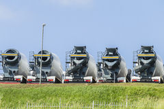 Concrete Mixing Trucks stock images