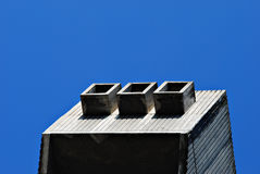 Concrete  modern architecture Stock Images
