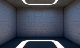 Concrete modern room Royalty Free Stock Images