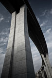 Concrete Multi-girder Highway Bridge. Bottom-up photography of concrete multi-girder highway bridge Royalty Free Stock Photography