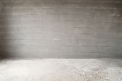 Concrete muur en vloer Royalty-vrije Stock Foto's