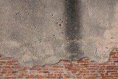 Concrete muur met baksteen Stock Fotografie