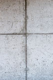 Concrete muur met bekistingspatroon Stock Fotografie