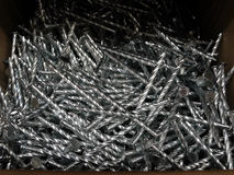 Concrete nails with twilled shank detailed stock image Stock Photography