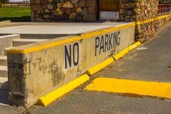 Concrete No Parking Sign Stock Image