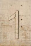 Concrete Number Stock Photo