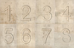 Concrete numbers Stock Image