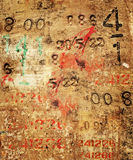 Concrete numbers. Grunge style background of random numbers on a concrete surface Stock Photo