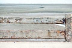 Concrete omheining en concrete vloer Stock Fotografie