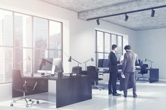 Concrete open space office side, black toned Royalty Free Stock Images