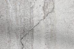 Concrete oppervlakte met barst Royalty-vrije Stock Afbeeldingen