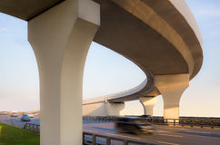 Concrete overpass from below Stock Images