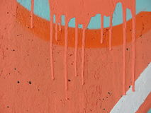 Concrete painted orange wall Royalty Free Stock Photography