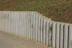 Concrete palisade Royalty Free Stock Image
