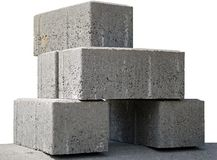 Concrete panels. Prepared to setting on building Royalty Free Stock Photos