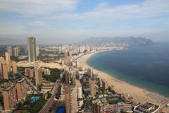 Concrete Paradise. A view from the highest point in Benidorm city Royalty Free Stock Photo